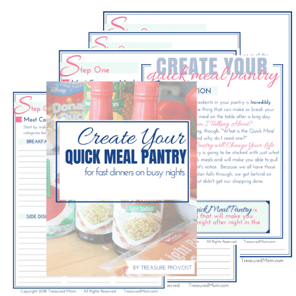 Create Your Quick Meal Pantry Cluster image revised